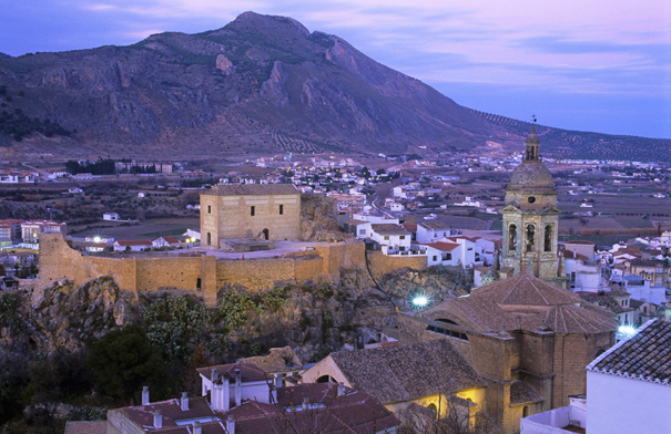 The town of Loja, in the province of  Granda at dusk © Michelle Chaplow
