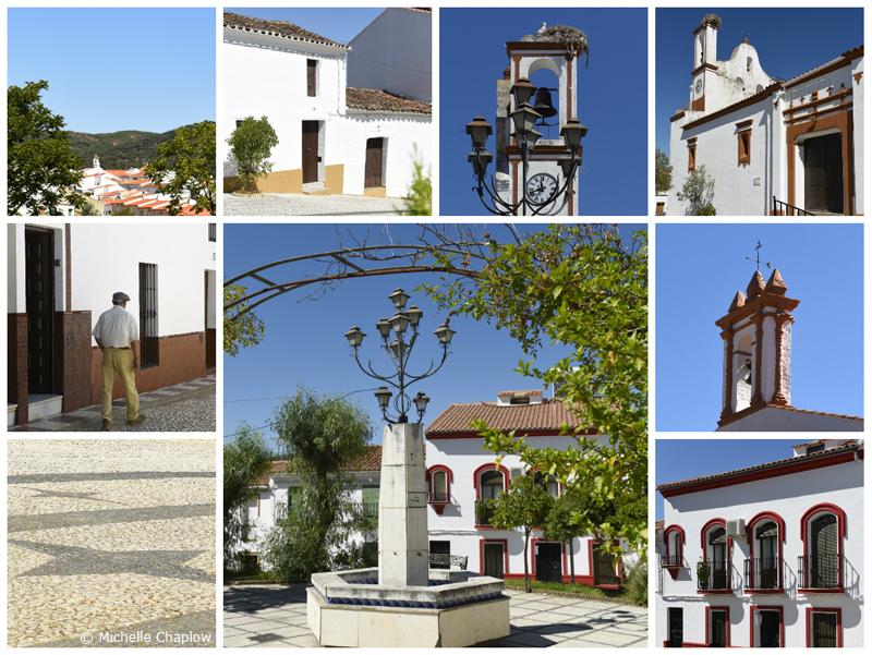 The white village of Arroyomolinos de Leon © Michelle Chaplow