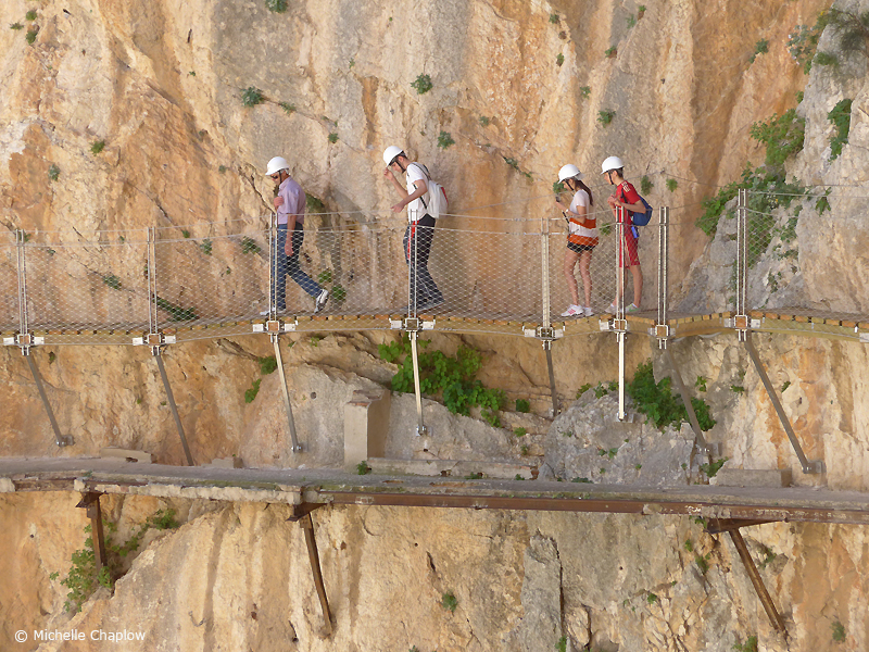 The Caminito del Rey, The King´s path. © Michelle Chaplow