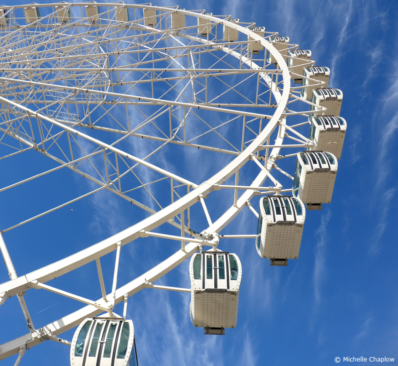 The Malaga Big Wheel (Noria de Malaga) when it had 42 cabins  © Michelle Chaplow