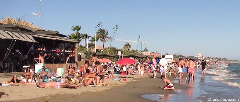 Front line beach bar at Playa Alicate