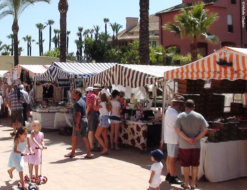 Sunday morning craft market in Sotogrande