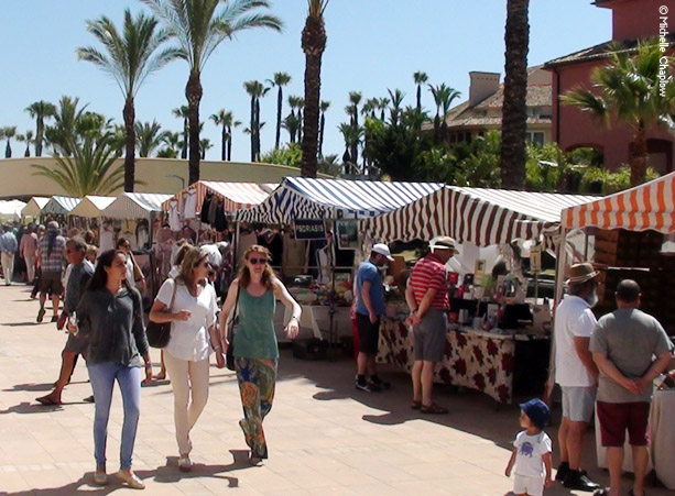 Sunday morning craft market in Sotogrande