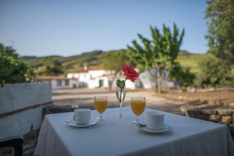 Drinks in the fresh air at El Horcajo Farm © Booking.com / El Horcajo