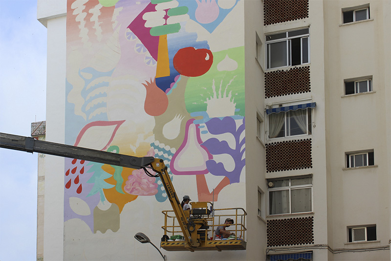 Estepona Murals are a work in progress - photo from Estepona Town Hall