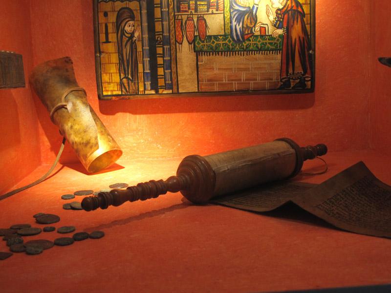 Jewish relics including the Megilah