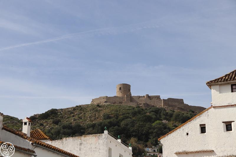 View of the castle on top of the hill in Jimena de la Frontera © Max Phythian