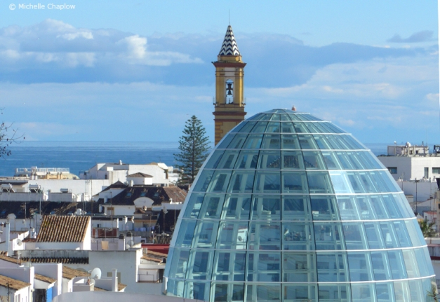 A new skyline for Estepona, with the emblematic dome of the Orchid Museum.