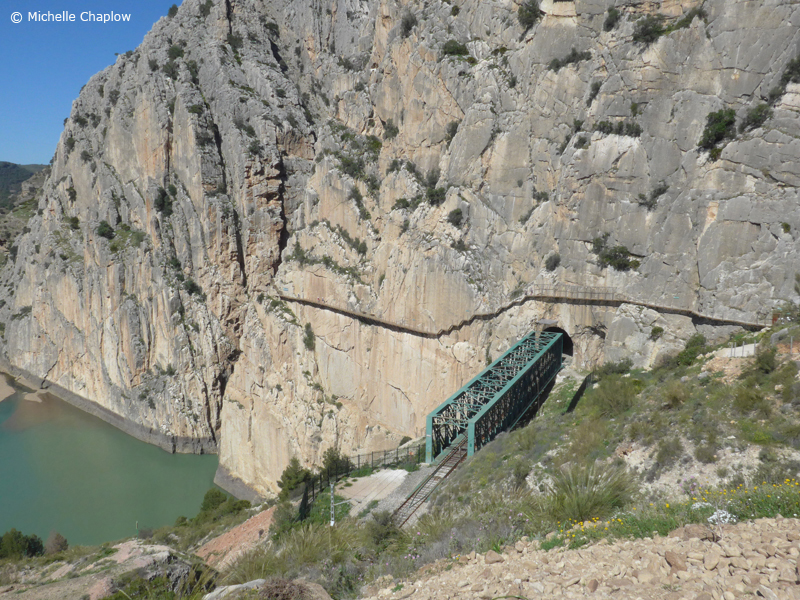 The South Entrance, check out this cliff hanger walkway © Michelle Chaplow