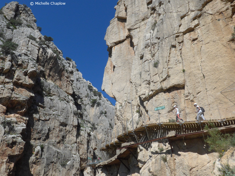The climb from the South Entrance  © Michelle Chaplow