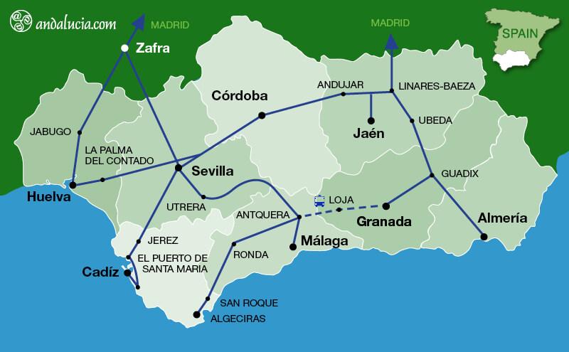 Medium Distance Regional trains in Andalucia
