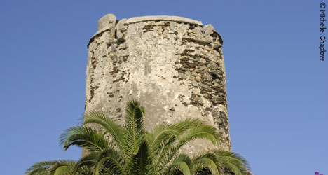 Ancient watchtowers still evident along the coastline of Benalmadena.