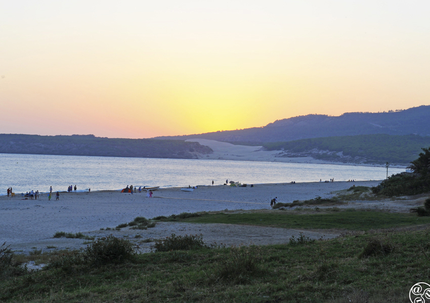 Sunset over Bolonia beach © Michelle Chaplow