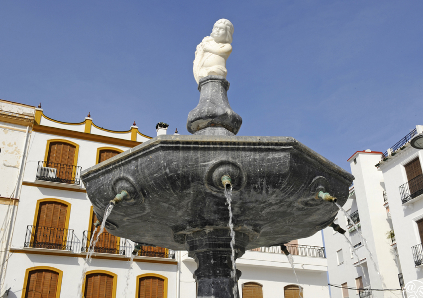Coin - Fountain in the town square © Michelle Chaplow