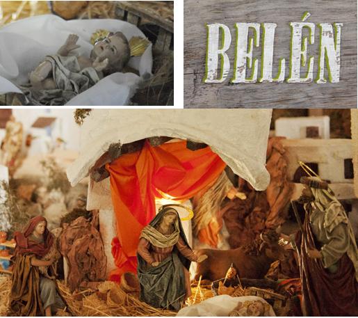 The nativity scene or Belen (Spanish for Bethlehem)