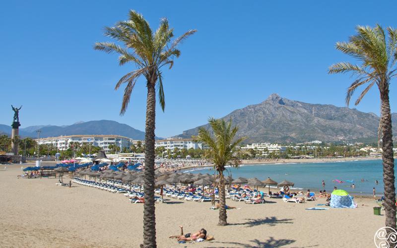 Playa de Puerto Banus, also known as Playa de la Levante.© Michelle Chaplow