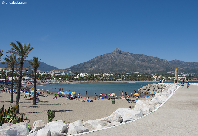 The beach of Puerto Banus © Michelle Chaplow