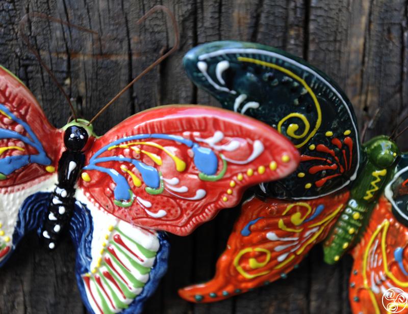 Hand painted ceramic butterflies © Michelle Chaplow