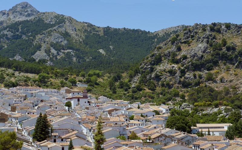 craggy mountain landscape Grazalema Village © Michelle Chaplow