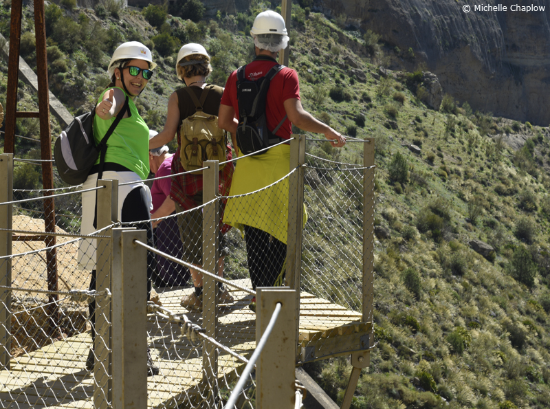 Loads of happy faces on the Camino del Rey © Michelle Chaplow