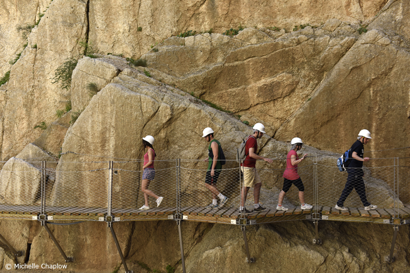 #CaminitodelRey you used to walk in both directions  © Michelle Chaplow