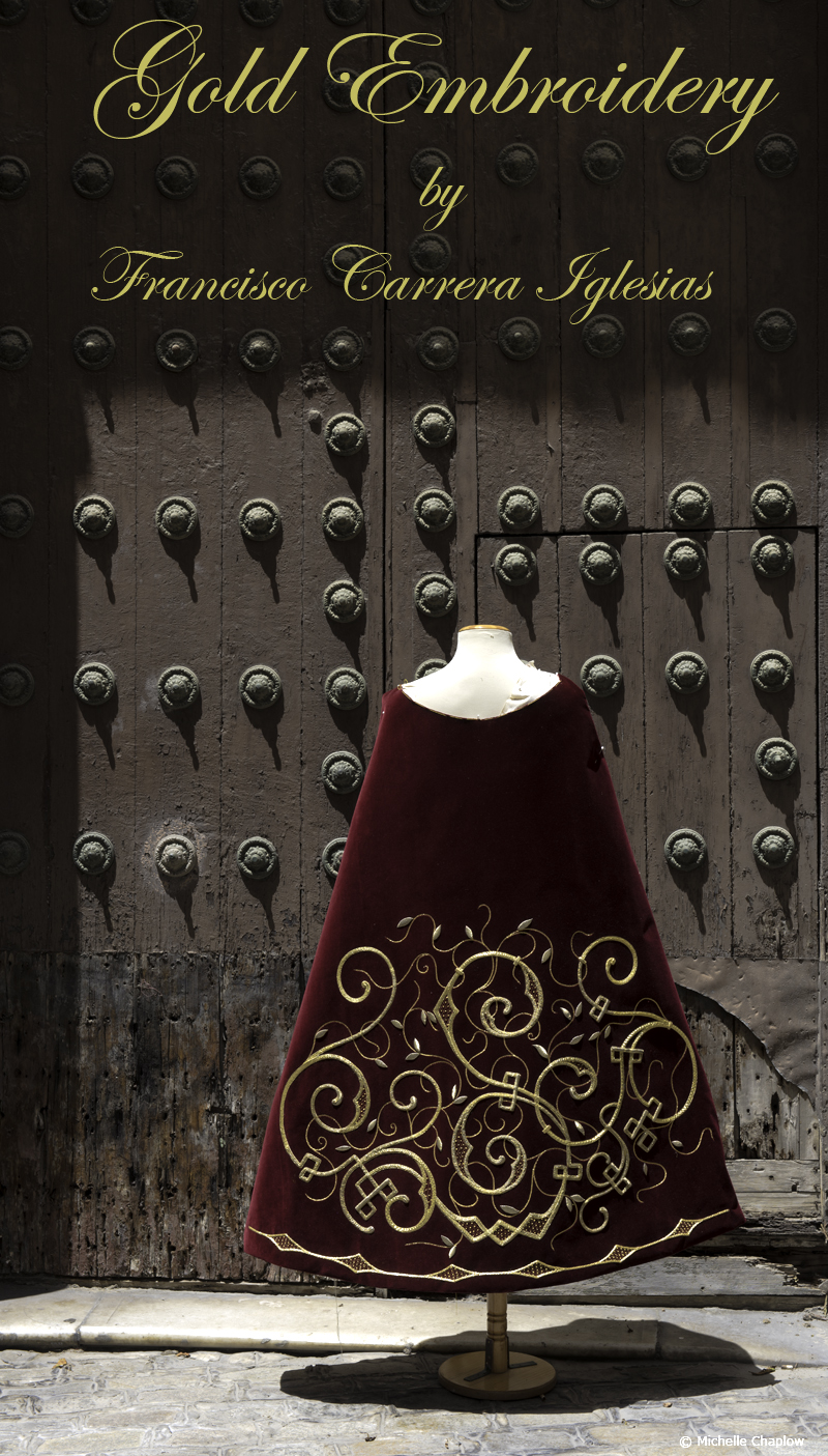 Rich velvet fabric and gleaming gold embellishment © Michelle Chaplow