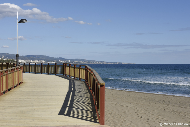 Boardwalk, Marbella, Malaga © Michelle Chaplow