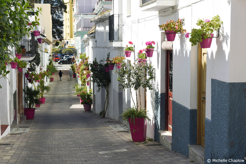 A pretty street in old town Estepona © Michelle Chaplow