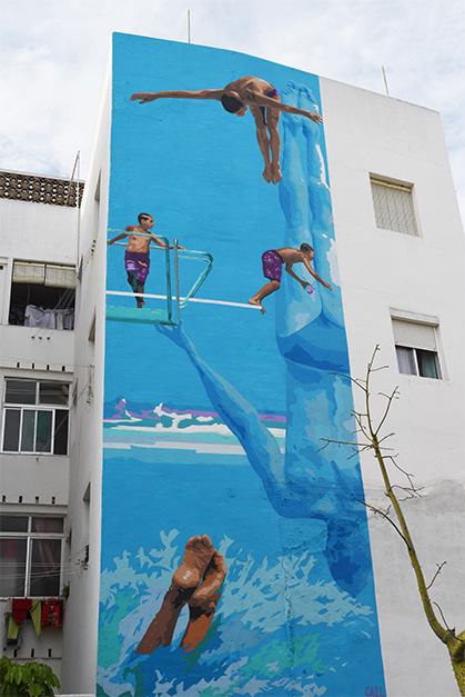 Jump into the blue Estepona Murals ©