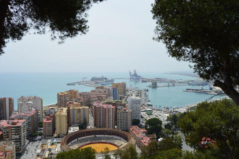 Malaga Port and Bullring from the Gibralfaro © Barcley Spicer-Jenkins