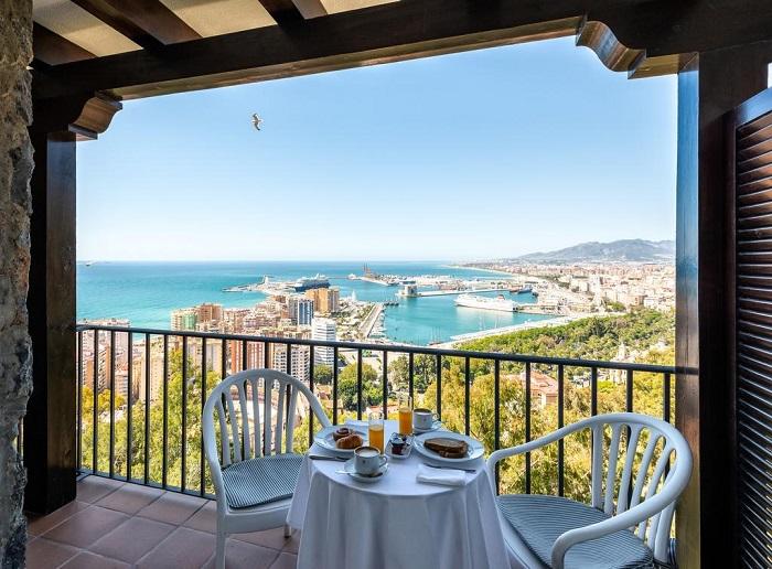 Balcony views from Mount Gibralfaro © Booking.com / Parador de Málaga Gibralfaro