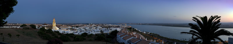 Panoramic view of Ayamonte