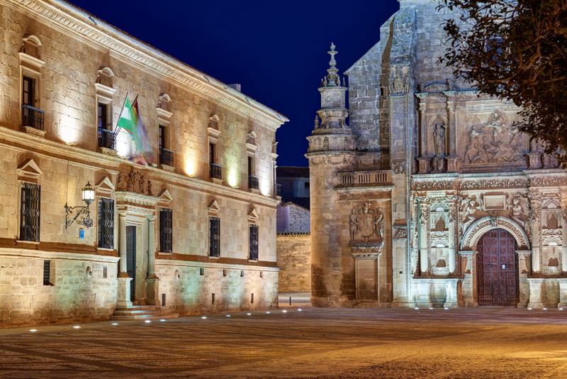 A 17th century renaissance palace in the center of the city of Úbeda