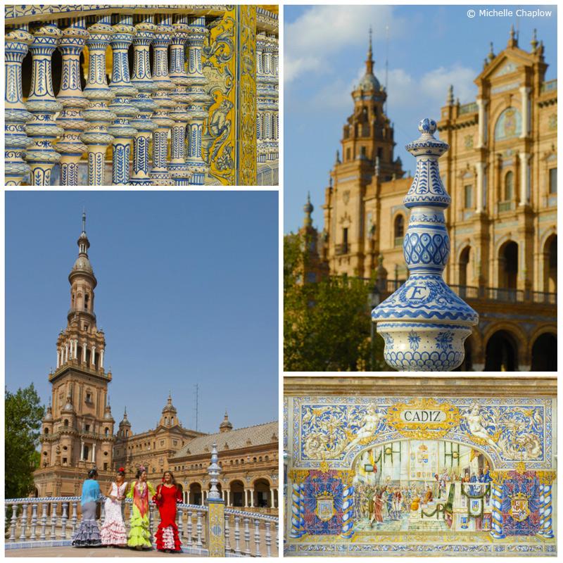 Plaza de España, Seville, Andalucia  © Michelle Chaplow