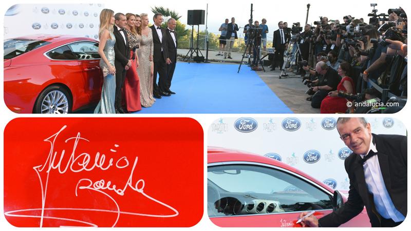 Starlite Gala 2016, Antonio Banderas signing the vibrant red  © andalucia.com