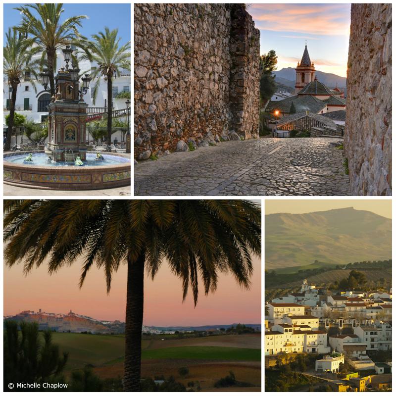 White villages Pueblo bancos, Cadiz, Andalucia © Michelle Chaplow