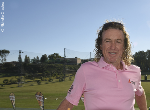 Miguel Angel Jimenez on the academy club house balcony  © Michelle Chaplow