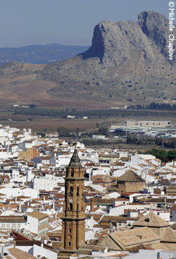 Lover's rock, Antequera and the chruch of San Sebastian