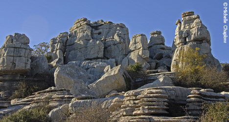 The extraordinary limestone rock formations of El Torcal, Antequera. © Michelle Chaplow
