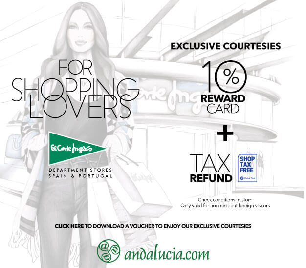 Click here to enjoy El Corte Inglés courtesies and 10% reward card