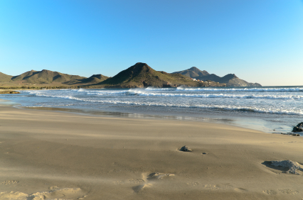 Genoveses Beach in the National Park of Cabo de Gata