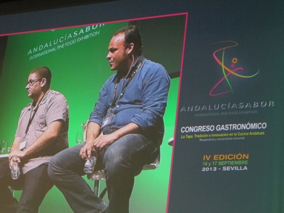 Michelin-starred chef-restaurateurs Dani Garcia (left) and Angel Leon at Andalucia Sabor IV in Seville this week