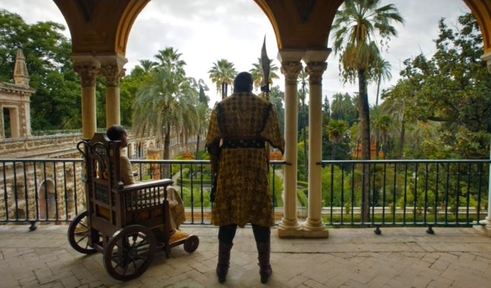 The Alcazar as seen in Game of Thrones - the palace of Prince Doran, ruler of the Kingdom of Dorne. (Photo: HBO)