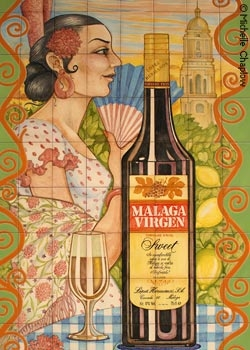 Málaga wine is comparable to sweet port. © Michelle Chaplow