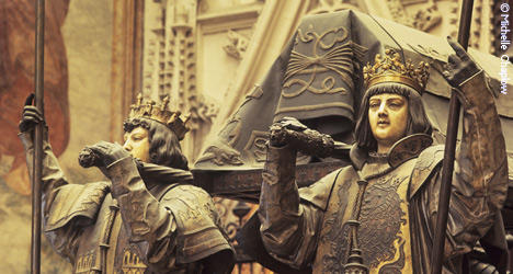 © MVC The remains of Columbus in the cathedral of Seville