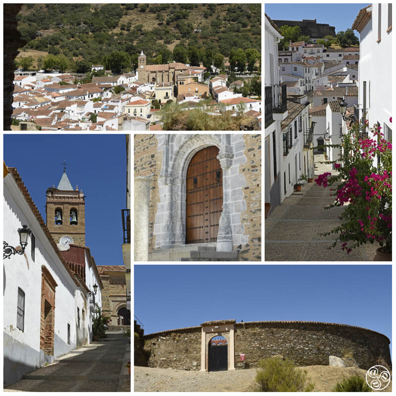 Traditional Andalucian Arcitecture, in Almonastaer la Real, including the bullring, Sierra de Aracena  © Michelle Chaplow ©Michelle Chaplow