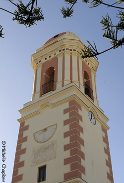 The emblematic Estepona clock tower