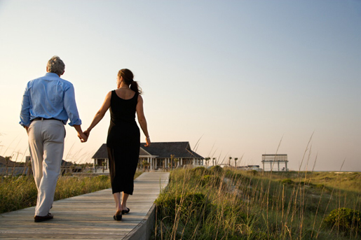 Couple taking a relaxing stroll © iStock