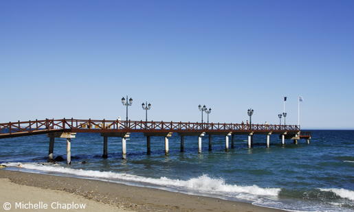 © Michelle Chaplow Playa Nagueles is popular with the the rich and famous who come to Marbella.