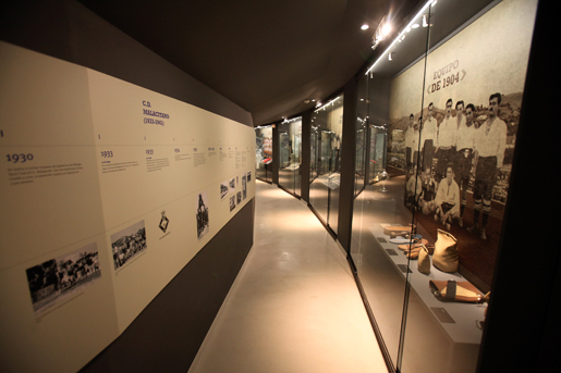 Travel back in time through the history of Malaga Club de Futbol at the museum. © Museo de Malaga CF